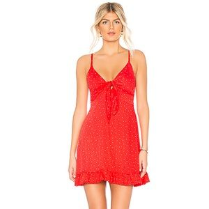 MINKPINK Santorini Red Polka Dot Dress